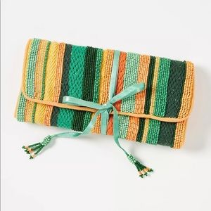 Anthropologie NWT Danica Embellished  Pouch